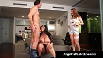 Cuban BBW Angelina Castro & Roberta Gemma Do 3Way Fuck&Suck!