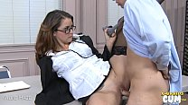 Stockinged Allie Haze riding cock for cum video