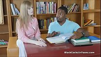 18585 Coed blows black tutors BBC preview