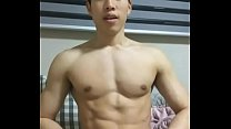 AMATEUR VIDEO  LONG DICK MUSCULAR KOREAN GAY FUN ON BED 0001