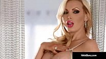 Canadian Star Nikki Benz Strips Teases & Plays w/ Our Minds!