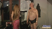 75 old grandpa sex blessed by Russian hottie blonde preview image