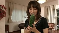 Japanese mother masturbating with a big cucumber pornhub video