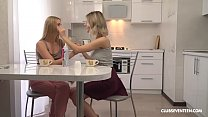 Eva Elfie and Elizabeth Evans Lick Each Other's Cherry Pop thumbnail