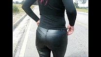 Leather pants when leaving the car