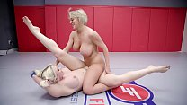 Hot lesbian wrestling and pussy eating with Dee Williams vs Leya Falcon