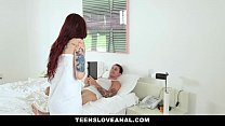 TeensLoveAnal- Tatted RedHead Ass Fucked By Boy...