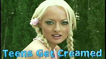 YOUNG BLONDE TEEN GETS FUCKEDHARD IN DP ANAL TH...