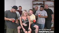 Skinny Blonde Bukkake Fuck Party! pornhub video
