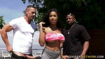 Busty Ebony Sarai Minx Seduces Her Husband And His Buddy