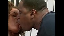 Beutiful black couple anal sex and deep penetration on the couch thumbnail