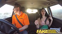 Fake Driving School busty examiner passes excit...