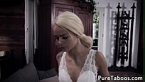 Petite babe queened by stepmom in taboo ffm