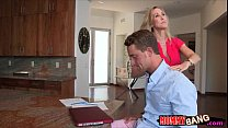 Stepmom Brandi and teen Taylor hot trio on mass...