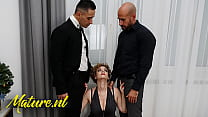 Classy Busty MILF Creampied By Two Coworkers In...
