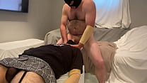 Faggot's Throat Pussy Roughly Plowed By Str8 Alpha