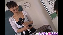 Misato Kuninaka Is Fucked With Sex Toys Before Double Teaming