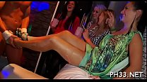 Tons of oral-job from blondes and massing group sex at night club