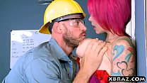 Big boobs boss Anna Bell Peaks fucks manager in... thumb