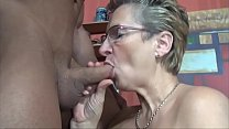 Horny mom in law fuck muscular tattooed guy swallowing his cum