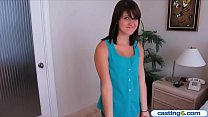 Fake casting of a natural teen beauty turns int...