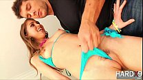 Petite chick Riley gets fucked by Ramon with a huge hard cock thumbnail