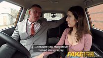 Fake Driving School Huge facial for sexy spanish eyes thumbnail