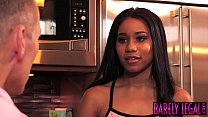 Young ebony Jenna Foxx stretched passionately b...'s Thumb
