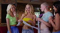 Four lesbians playing a kissing game - Carter Cruise and Elsa Jean