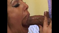Curly brunette Angelica Lauren loves chocolate blowjob