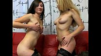 2 Girls Play Together in Stockings - Toys - sexcwm.nl