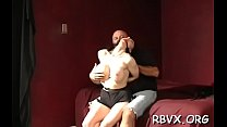 Breasty hottie gets totally restrained and ball-gagged