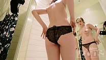 Brazzers Stepmom ~ Peeping in the dressing room in the store. thumbnail