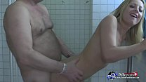 Gina Blond is fucked hard in the shower