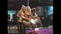 Elite lesbo Chloe Dior with girls are touching each other's cunts after hot strip dance