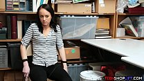 Wild teen thief tied up in the security guards office thumbnail