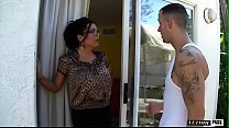 Free download video bokep Incredibly Hot MILF w/ Big Tits Sienna West Invites Neighborhood Boy In For Some Lemonade, Licks His Ass Then Bends Over!