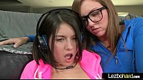 Cute Lovely Lesbos Have Fun On Camera vid-18 preview image