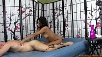 Young, Sexy Girl Gives Erotic Oil Body Massage and Blowjob thumbnail