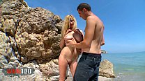 Spanish busty babe Eli Tetona fucked at the beach thumb