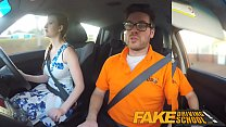 Fake Driving School pink nipples big tits redhead kinky girl gets a facial's Thumb