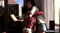 Margo T. and Daniella Rose Old Young Lesbian Love