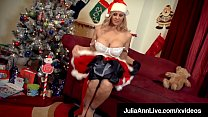 XXXMas! Busty Milf Julia Ann Dildo Fucks Waiting For Santa!|v