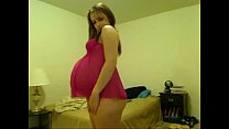 pregnant teen shows her lingerie - PregnantHorn...