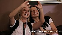 Victoria and Violette Enjoy an Interacial Threeway