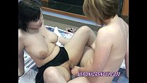 Cute Angelica shares a dildo with a horny slut