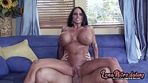 MILF with HUGE tits enjoys a hard boning & a lo...