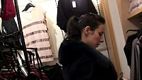 Lesbian Strapon Sex in the Dressing Room - MORE...