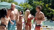 Jmac Fucks Two Hot Babes In A Pool Party