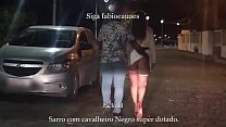 Beginning interracial naughty Hotwife showing off on the street dating the gifted Black Gentleman, in front of the cuckold BBC